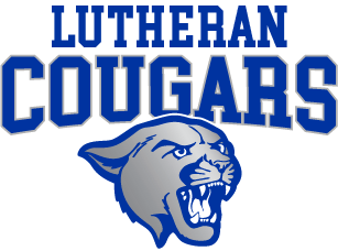 Lutheran Cougars above head transparent background