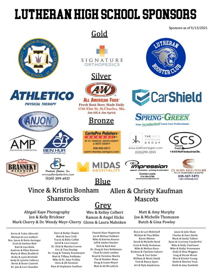 Sponsors 9-13-2021